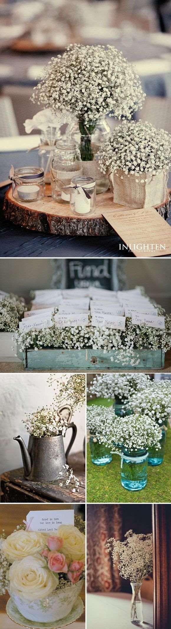arranjo simples de flores do campo para decoração de casamento