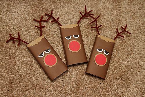 Ντύστε τις σοκολάτες σας με χριστουγεννιατικα περιτυλιγματα !Ιδανική ιδέα για οικονομικά δώρα!