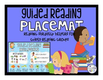 Use this kid friendly placemat to help your young readers learn to read by having all of their strategies in one convenient place! After teaching these different reading strategies, students can use these placemats to help them during small group reading time or independent reading. Simply print and laminate for easy use! I like to place these at my guided reading table for each student to use or you can print one for each student to leave in their own folders for easy reference.