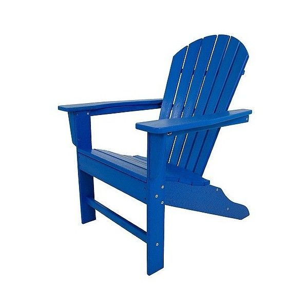 Polywood South Beach Patio Adirondack Chair ($450) ❤ Liked On Polyvore  Featuring Home,