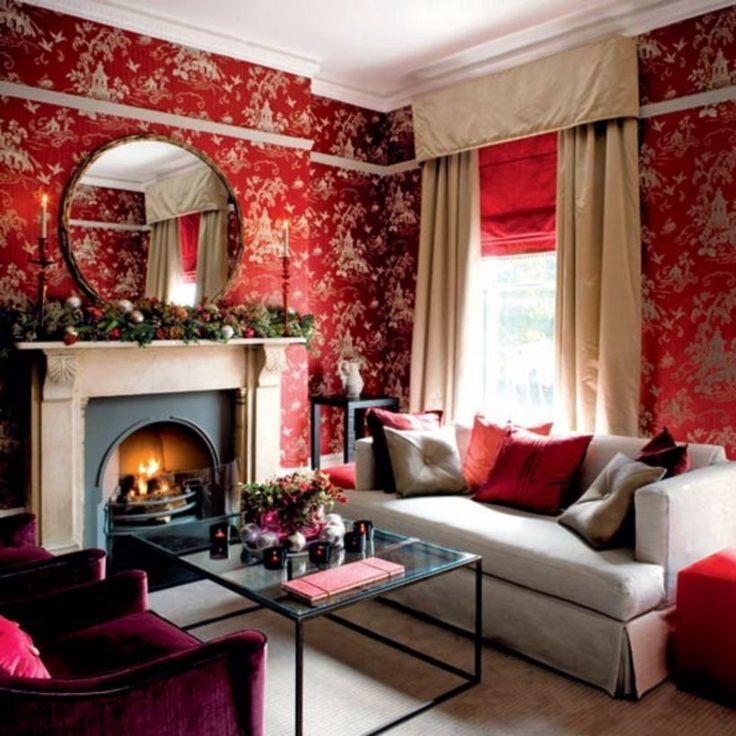 Die besten 25+ Red and white wallpaper Ideen auf Pinterest blau - villa wohnzimmer dekoration