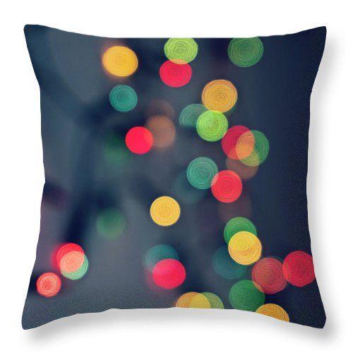 Christmas Light bokeh  #KiraYan #abstract #bokeh #ArtPrint #homedecor #FineArt #Christmas #blur #light #pillow