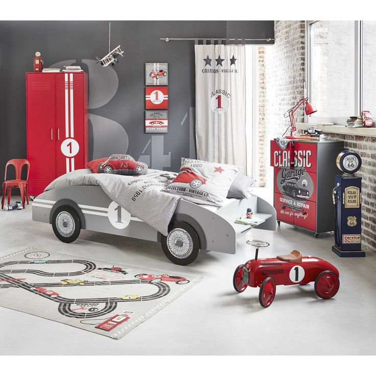 Kinderbett Auto aus Holz, 90 ... - Circuit