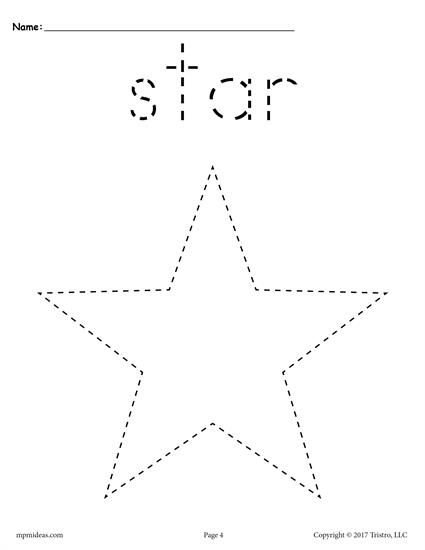 FREE preschool tracing shapes worksheets. Includes a star tracing worksheet plus 11 other shapes tracing worksheets. Great for toddlers too! Get them all here --> http://www.mpmschoolsupplies.com/ideas/7543/12-free-shapes-tracing-worksheets/