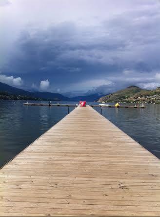 Dock at Lake Kalamalka Vernon, British Columbia