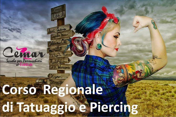 Il tatuaggio è un' arte che richiede talento, impegno, preparazione teorica e tanta pratica. Se il tuo sogno è quello di diventare un tatuatore professionista e di aprire un tuo studio, il nostro corso Tatuaggio e Piercing è quello che fa per te. ll corso ha una durata di 90 ore, superato l'esame finale verrà rilasciato l'Attestato Regionale che autorizza l'apertura del proprio studio di tatuaggi e piercing in tutta Italia. #ScuolaCemar #Tattoo #Piercing #corso #frosinone
