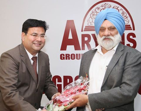 Dr. Mohan Paul Singh Isher, Hon'ble Vice Chancellor, Maharaja Ranjit Singh Punjab Technical University Bathinda;Dr. JS Hundal, Registrar, Maharaja Ranjit Singh Punjab Technical University Bathinda inaugurated 41st Aryans Job Fest held at Aryans Group of Colleges, Chandigarh. Dr. Anshu Kataria, Chairman, Aryans Group presided over the function.