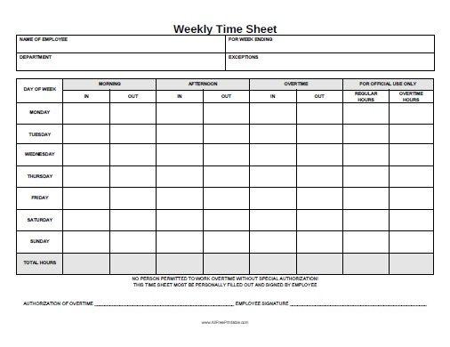 printable timesheets