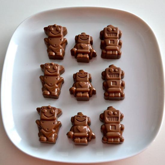 Chocolates, marshmallows, candies, caramel: sweets by Nicole #sweets #desserts #robots #gifts #diy #ideas