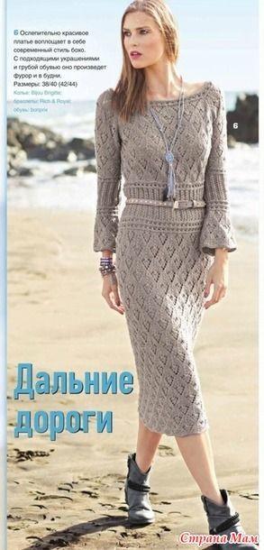 Восхитительное платье спицами - Вязание - Страна Мам