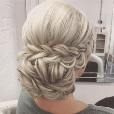"""2,855 Likes, 8 Comments - Beth Belshaw (@sweethearts_hair) on Instagram: """"A Braided Updo for a lovely wedding guest today Love her hair colour #SweetHearts…"""""""