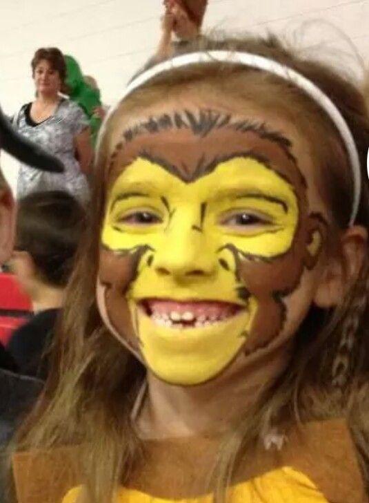 Monkey face painting