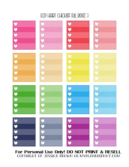 Free Printable Heart Checkoff Full Boxes 3 of 3 for the Vertical Erin Condren and Recollections Creative Year Planners from myplannerenvy.com