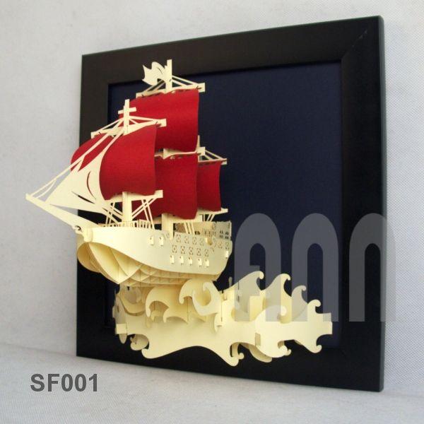 Battle-ship-paper-craft-picture frame-1.jpg