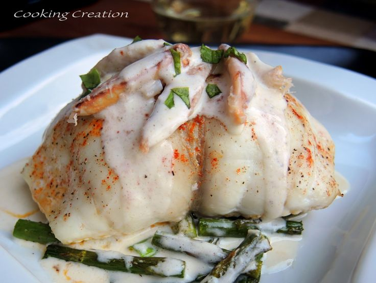 Crab-Stuffed Flounder & Champagne Cream Sauce... Perfect for Valentine's Day!