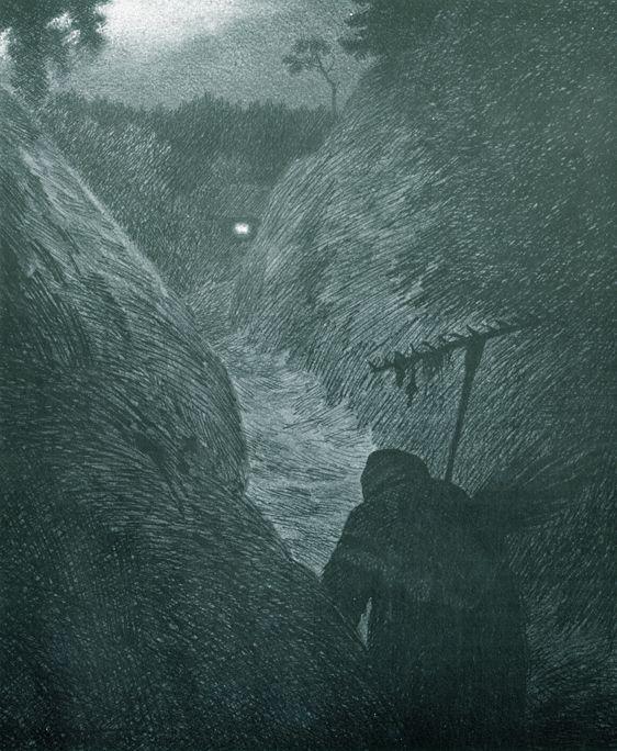 Kittelsen-0107 - Pesten på väg