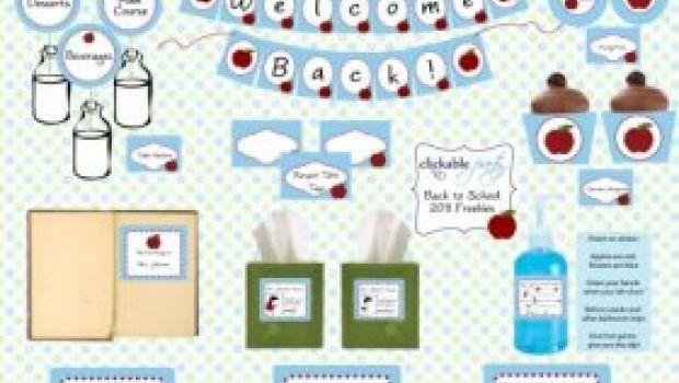 Si torna a scuola: etichette da personalizzare stampabili e free