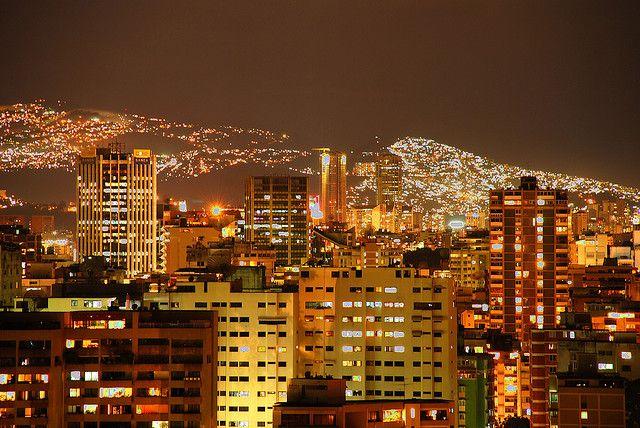 Caracas de noche, Venezuela