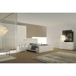 $3,389.00 VIG Furniture - Prestige Cream Embroidered Eco-Leather Bed with Crystals - VGSMAPRESTIGE-PR-03