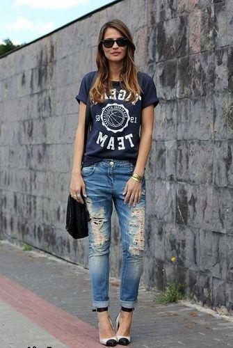 Модные женские джинсы бойфренды-2017: фото стильных моделей, как подобрать и с чем носить джинсы бойфренды