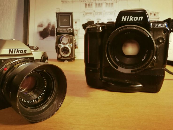 My everyday tools #nikon f90x #nikonfm10 #yashicamat124 #summicronr50 #nikkor50mm