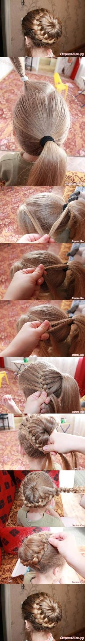 Easy french braid bun by mksteik