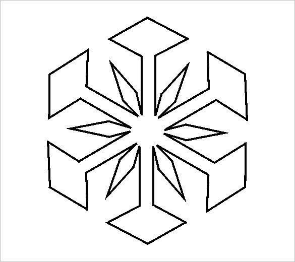 14 Free Snowflake Templates Pdf Snowflake Template Snowflake