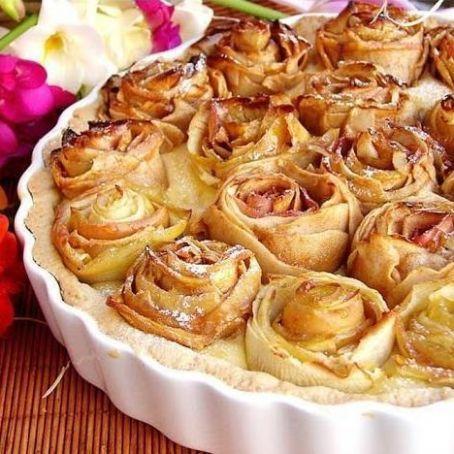 Torta di mele a forma di rose