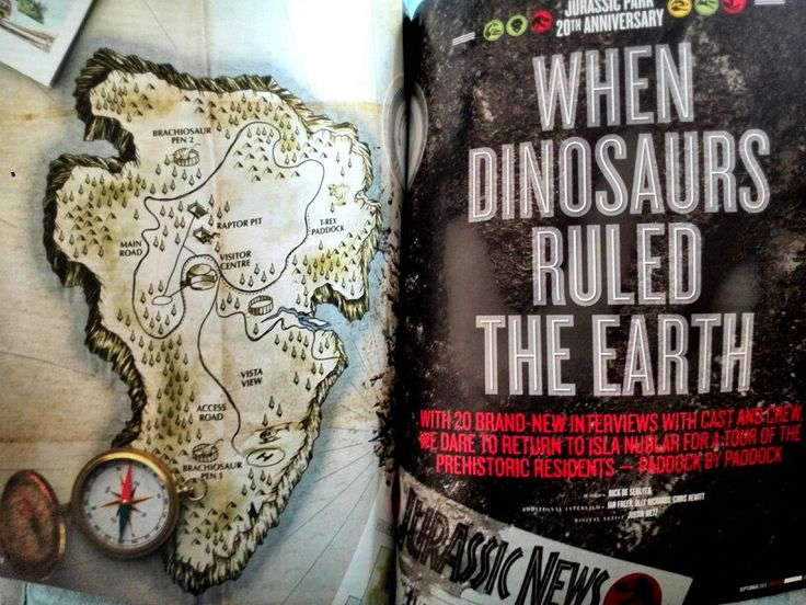 Empire magazine- Jurassic Park feature illustrations and typeography