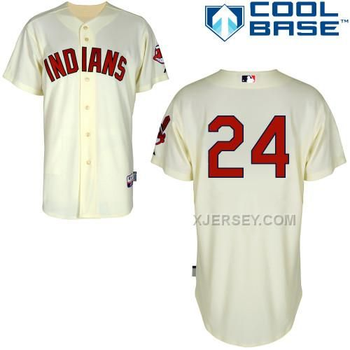 http://www.xjersey.com/indians-24-bourn-cream-cool-base-jerseys.html INDIANS 24 BOURN CREAM COOL BASE JERSEYS Only $43.00 , Free Shipping!