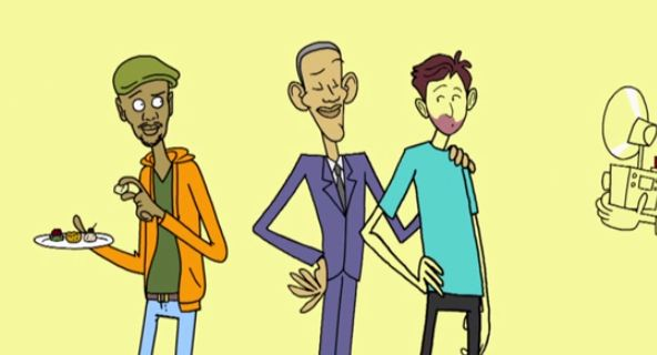 Some humanimation from Neal Brennan's Women and Black Dudes premiering on Comedy Central 1/18 at midnight