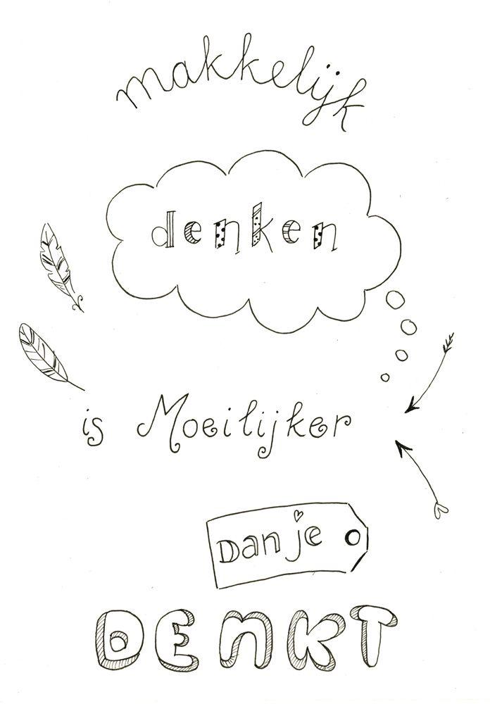 Gemaakt tijdens een workshop Handletteren Basis bij Sterrig.