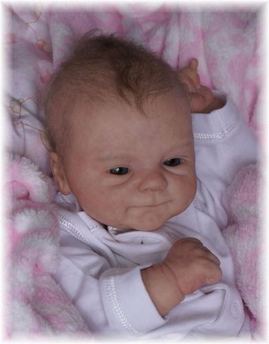 Reborn Baby Doll Rebornbaby Girl single-rooted hair Coco-Malu by Elisa Marx new | eBay