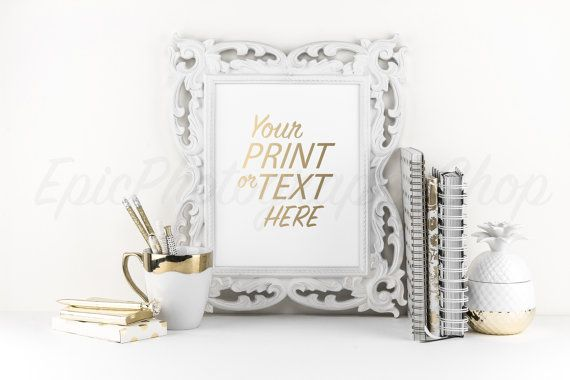 Print Background / Blank Frame / Styled Stock Photography / Product Photography / Staged Photography / Product Background / Gold / OR003