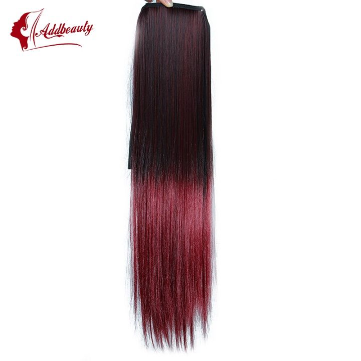 Ribbon Importer On Sale At Reasonable Prices Buy Straight Ponytail Clip In Hair Hairpieces Ombre Tail Extensions Women From Mobile Site Aliexpress