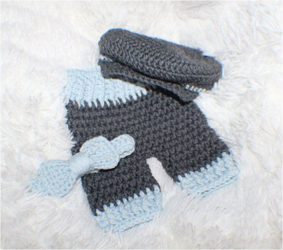 Original, Little Man Set, Newborn Pants with matching Bow Tie and Golfers Hat, Bringing Baby Home Outfit, Babies First Photos, Super Soft on Etsy, $49.99