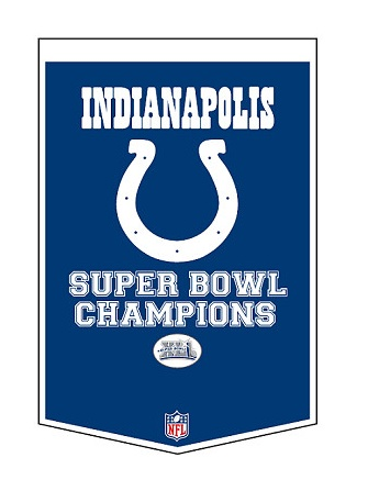 Indianapolis Colts Super Bowl Banner    Wooooo-Hoooooo    I attended..in Miami  !!