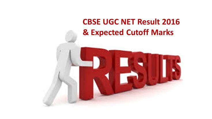 CBSE UGC NET Exam Result July 2016