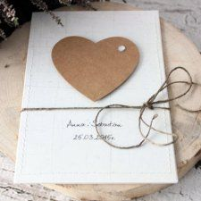 Eko serce - zaproszenia ślubne