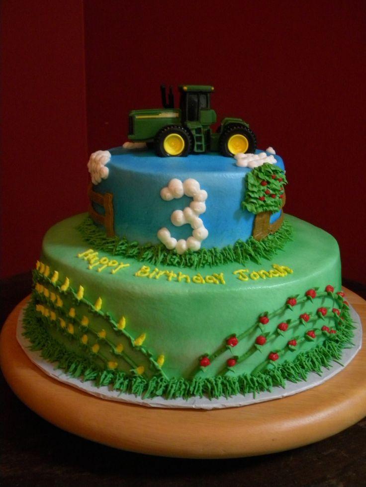 John Deere Tractor Birthday Cake Cakes Pinterest