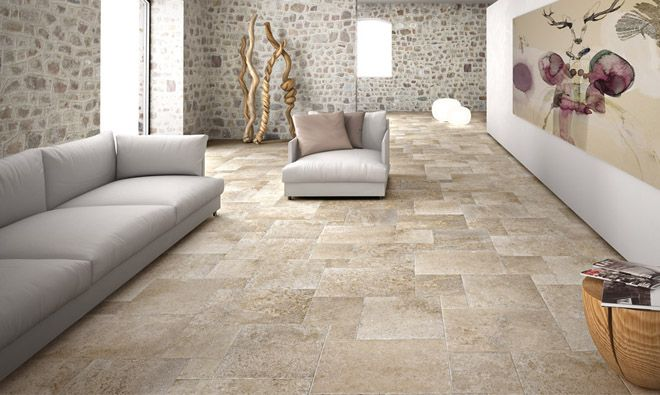 135 best Sdb images on Pinterest Travertine, Flooring and Homes - dalle beton interieur maison