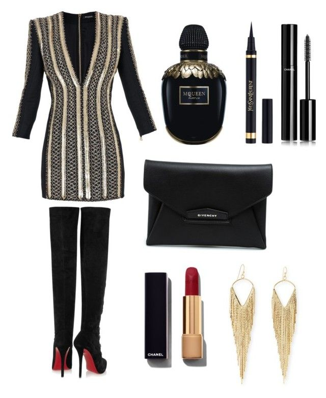 """""""Unbenannt #7"""" by fashionbible99 on Polyvore featuring Mode, Balmain, Givenchy, Christian Louboutin, Yves Saint Laurent, Alexander McQueen, Chanel und Jules Smith"""