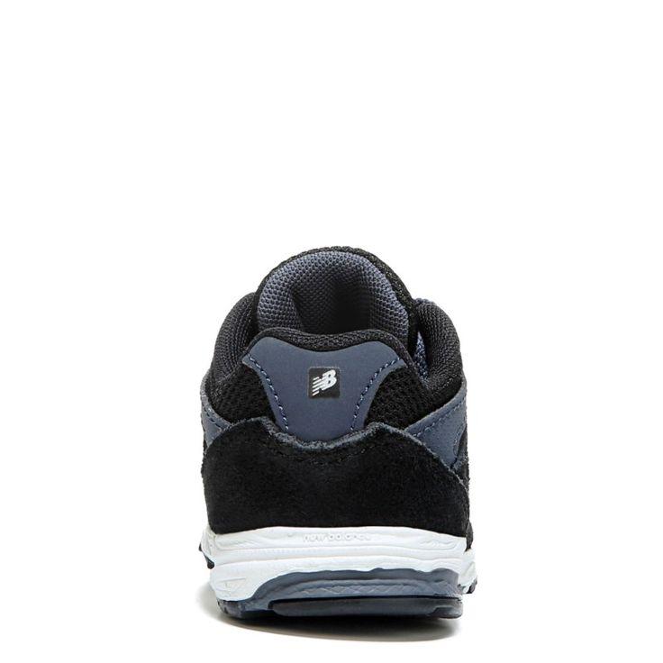 New Balance Kids' KJ888 Medium/Wide/X-Wide Running Shoe Baby/Toddler Shoes (Blue/Black Leather) - 3.0 M