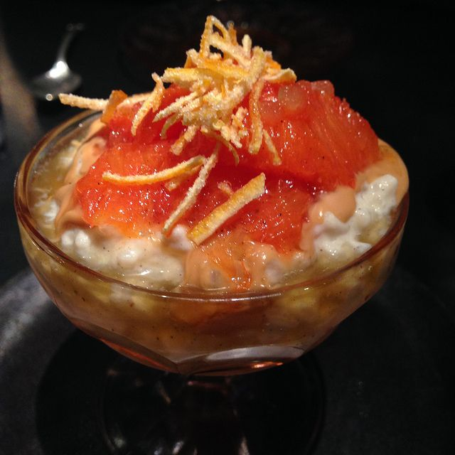 Rice Pudding with Citrus Compote at ABC Cocina,  NYC. [Photo by Polsia]