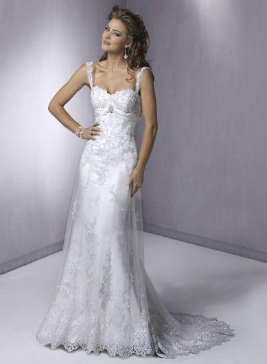 Designer Slim line Cap Sleeve Sweetheart Tulle Wedding Dresses (ST0174) Online, Vintage White A Line Halter Top Dress, Bag Ground Wedding