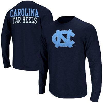 North Carolina Tar Heels (UNC) Touchdown Long Sleeve T-Shirt - Navy Blue