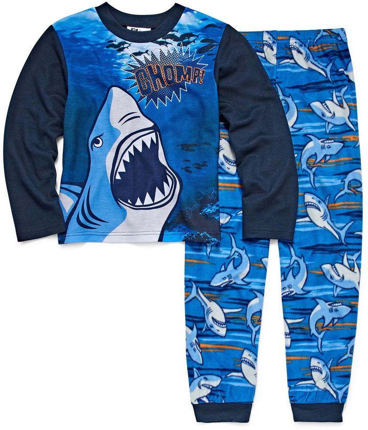 LICENSED PROPERTIES Shark 2 Piece Pajama Set - Boys Big Brother 4-20