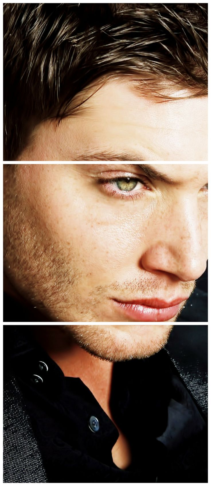 Freckles galore! Luscious lips!  #JensenAckles