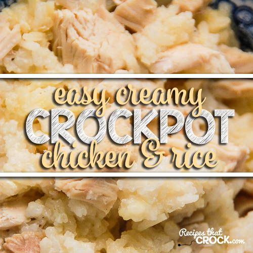 If you need an easy dinner idea, I have you covered! This Easy Creamy Crock Pot Chicken and Rice is so easy and delicious! Everyone will love it!