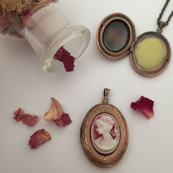Add a bit of vintage style to your outfit with one of our organic Rose Scent Lockets.  www.legatoperfume.com.au